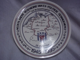 Remembrance plate of the former Dutch political prisoners. Wandbord Ex- politieke gevangenen 1945- 1995