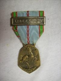 French Liberation medal. Franse herinneringsmedaille van de bevrijding. met citation