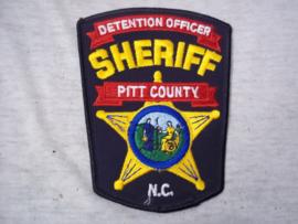 Badge, embleem SHERIFF pitt county - detention officer.
