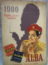 Belgische reclame plaat ALBA sigaretten