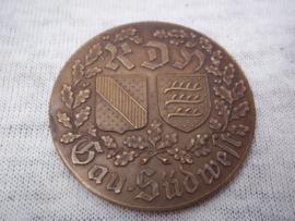 German medal for dog training. Bronzen penning Reichsdienst fur das Deutsche Hundewesen RDH. Gau West - Für gute Leistung.