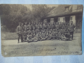 Duitse postkaart, groep soldaten