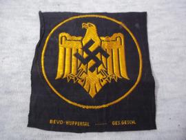 German sporting badge. Duits sport embleem voor het sport shirt BEVO geweven ges gesch.
