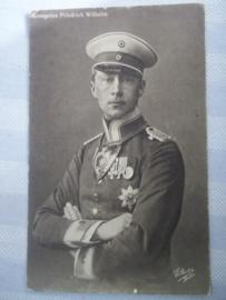 Duitse postkaart, beschreven met kroonprins en leuke achterkant.