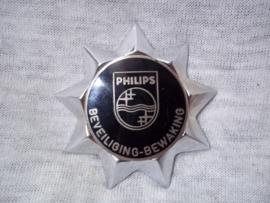 Pet embleem van de beveiliging en bewaking PHILIPS fabrieken.