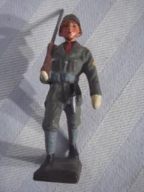 Lineol soldaatje Italiaanse soldaat met fascistisch uniform