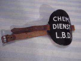 Nederlandse armband Lucht Beschermings Dienst. Chemische Dienst L.B.D. niet zoveel voorkomend.