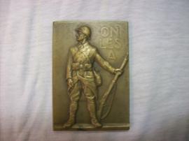French medal Strasbourg 1918. Franse penning met mooie afbeelding heel apart