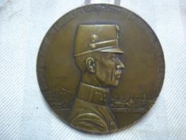 Austrian medal, Karpathen Oostenrijkse bronzen penning Karpathen, Generaal der Kavallerie, doorsnee 6,5 cm.