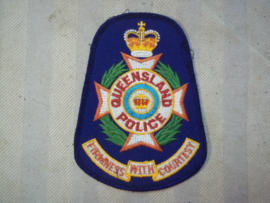 Sleeve badge Australian Police Queensland. Mouwembleem Politie Queensland