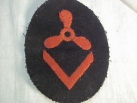 German kriegsmarine career sleeve, motor course III specialist badge. Duits Kriegsmarine kwalificatie embleem