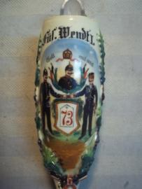 Duitse reservisten pijpenkop van Fusselier Wendt I. van het 11e Compagnie Fusseliers regiment General  Feldmarschalk  Albrecht van Preussen  Hannover No. 73  in Hannover 1904-1906.