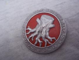 German tinnie rally badge, Duitse tinnie 600 JahreBergstadt Neurode 1337-1937 . met ingedrukte N.