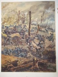Water coloured painting or gouache, E.R.Dobrich, 1933.Aquarel, TOP hoe langer je kijkt hoe meer je ziet echt TOP