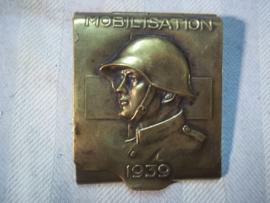Swiss matchbox holder, Luciferdoos houder Zwitsers leger Mobilisatie 1939.