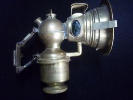 Bicycle lamp Miller Pattern. complete. Fietslamp Carbied. geheel compleet.