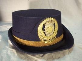 Female Policecap Philippines. Dameshoedje van de Filipijnse politie, mooi embleem