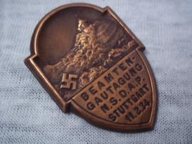 German tinnie, rally badge. Duitse tinnie Beambten Gautagung NSDAP Stuttgart 11-2-34