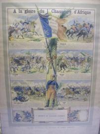 Franse herinneringsplaat van het 1e Regiment Chasseurs d´Afrique, niet ingevuld.