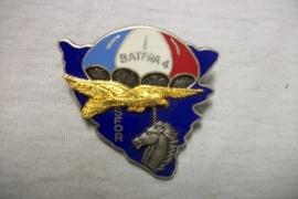 French para badge, Franse borsthanger parachutisten. 4e Bat. Fra.  SFOR