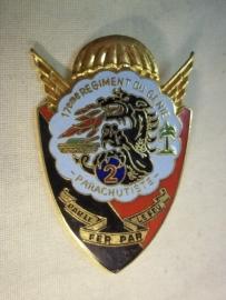 Frans embleem 17e regiment para genie