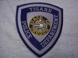 Badge, embleem Tigard Police department State of Oregon.