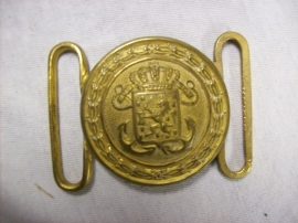 Ceremonial buckle of the Dutch Navy. Vuurverguld koppelslot Koninklijke Marine