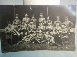 Photograph German soldiers. Groepsfoto Duitse soldaten WO1