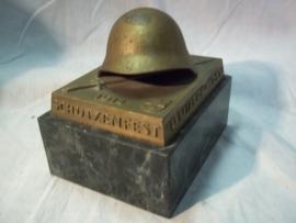 Swiss shooting price 1939 Luzern. Wehrmannstich. Bronzen schietprijs, Zwitsers leger met marmeren voet, 1939