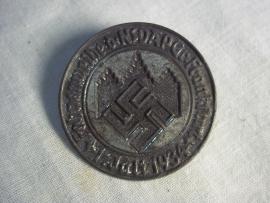 German tinnie Fahneweihe der NSDAP Gruppe Frankfurt, 1 juli 1934. Duitse tinnie NSDAP, 1934 vroeg model