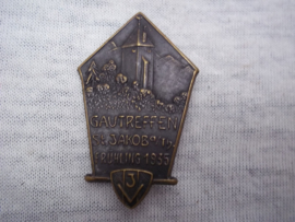 German tinnie, rally badge, Duitse tinnie, Gautreffen St.Jakob, frühling 1935.