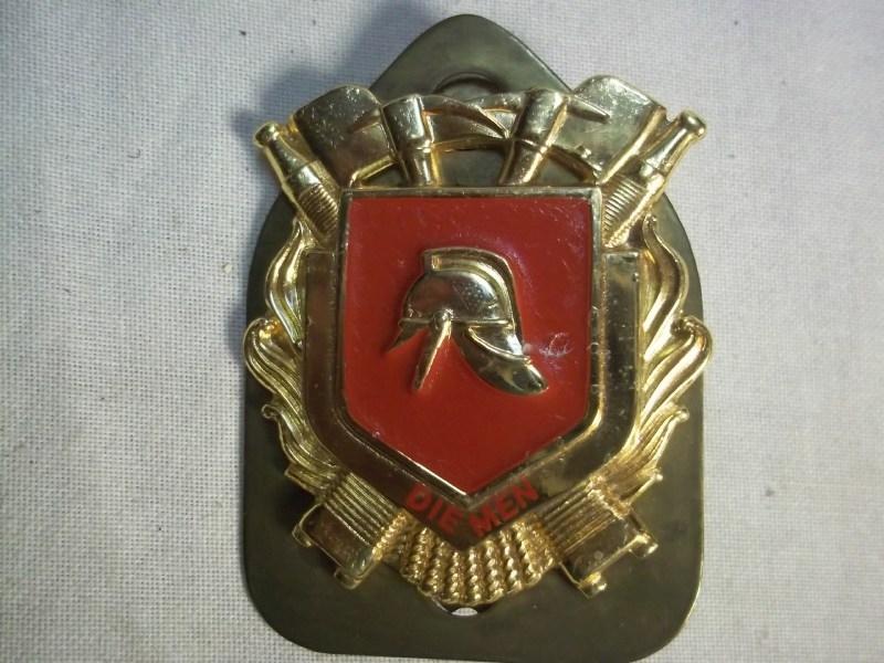 Dutch firedepartment badge city of Diemen. Nederlands brandweerbrevet