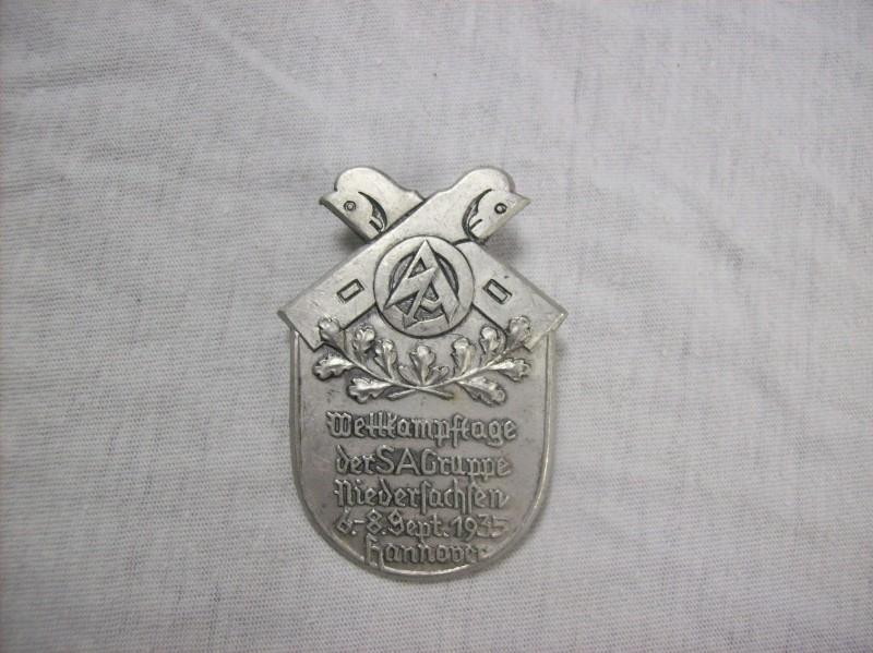 German tinnie Wettkampftage der SA gruppe Niedersachsen 1935 Hannover