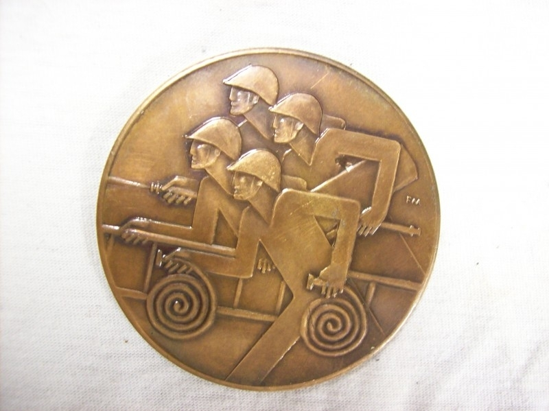 Medal of the Polnish fire department. Penning van de Poolse brandweer, moderne weergave