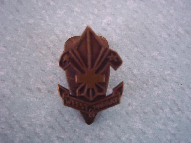 Button badge Dutch scouting. Knoopsgat embleem scouting Weest Paraat.