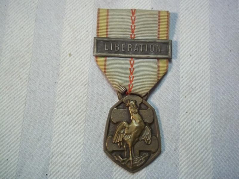 Franse medaille met balk LIBERATION