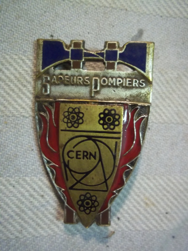 French badge firedepartment, Franse borsthanger pompier, brandweer CERN