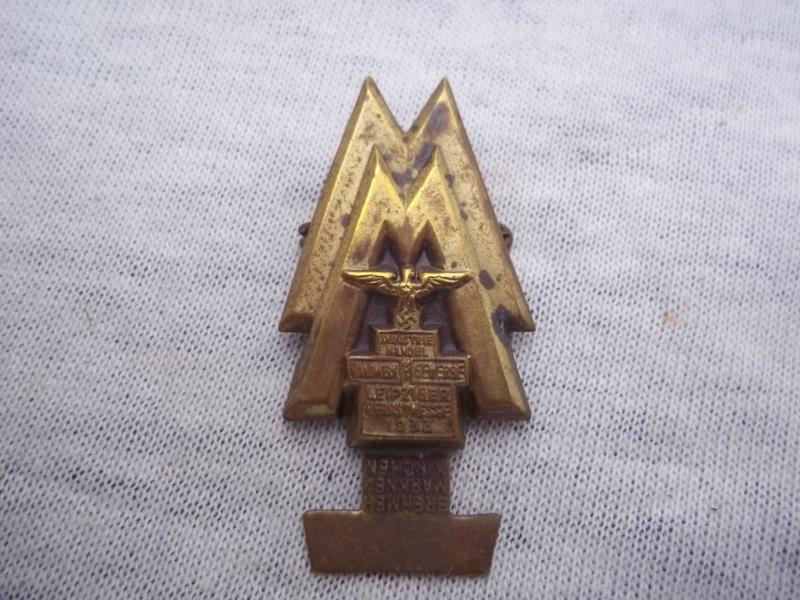 German tinnie, rally badge, Duitse tinnie Leipziger messe.