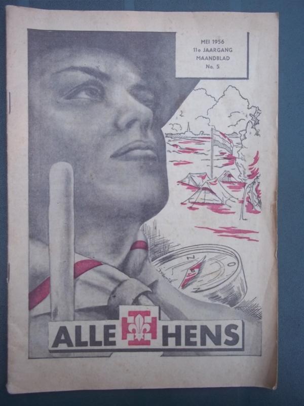 Maandblad ALLE HENS 1956 voor de scouting, padvinderij