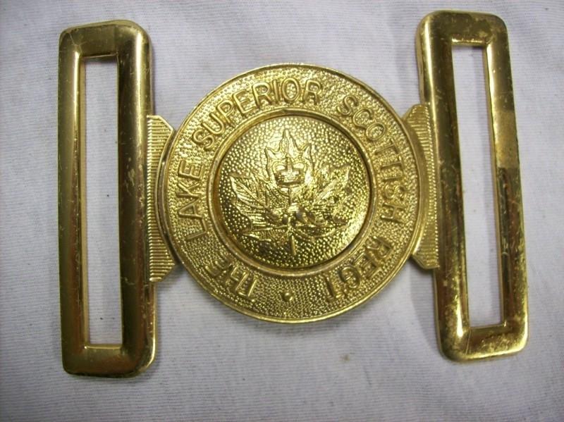 English buckle The Lake Superior Scottish Regiment.