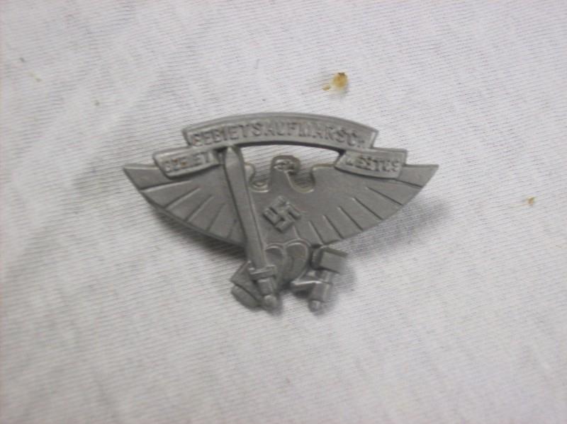 German badge tinnie plastic Gebietsaufmarsch Duits speldje
