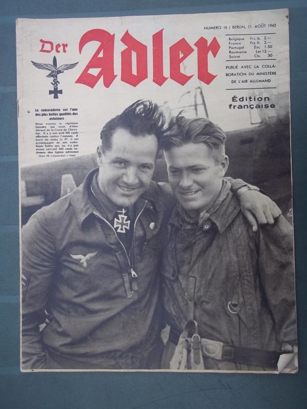 Der ADLER 11 Augustus 1942 French edition. Franse uitgave