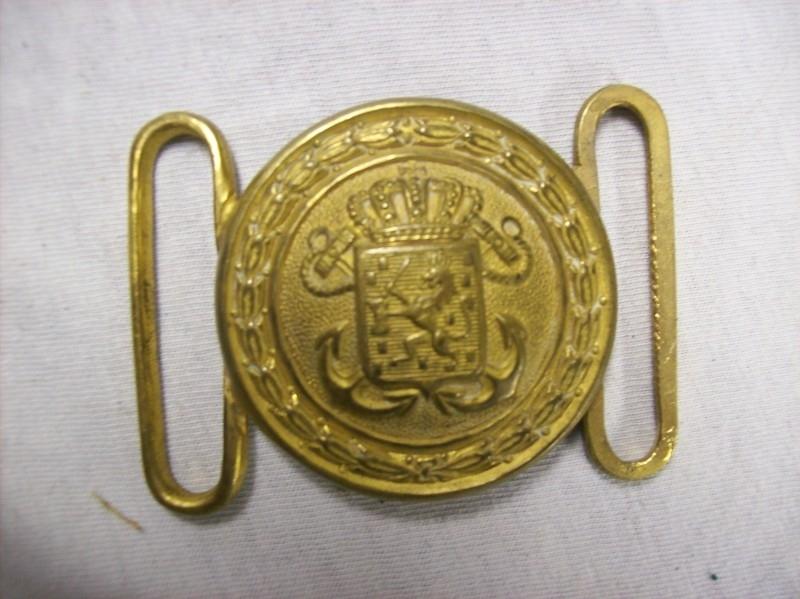 Ceremonial buckle of the Dutch Navy. Vuurverguld koppelslot Koninklijke Marine