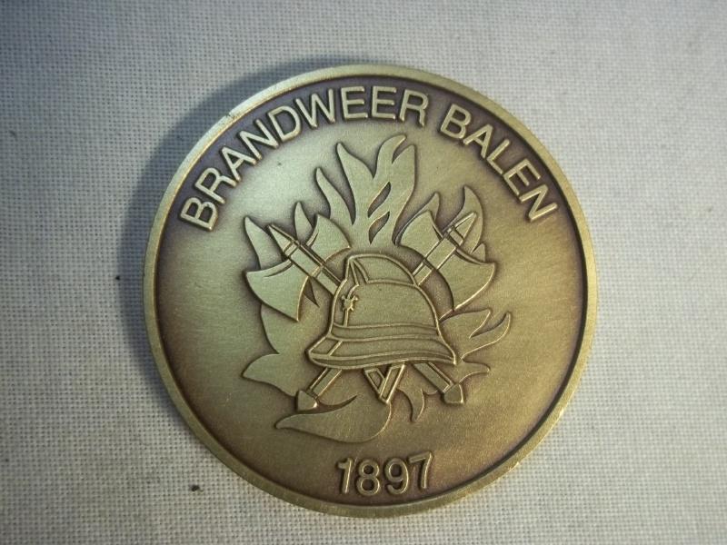 Plaque of the Balens Firebrigade Belgium, Penning brandweer Balen, Belgie