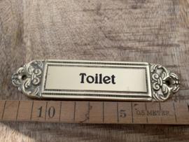 """Koperen deurplaatje """"Toilet"""""""