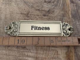 """Koperen deurplaatje """"Fitness"""""""