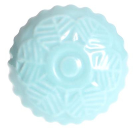 Aqua blauwe kastknop