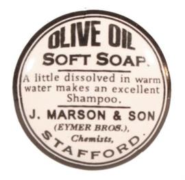 """Kastknop van porselein """"olive oil"""""""