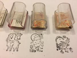Set van 5 beloningsstempels 'dieren '2