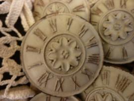 """Grote kast knop :`Clock""""."""